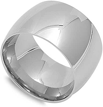Plain Concave Band Ring Stainless Steel
