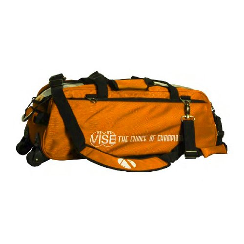 Vise Three Ball Tote Roller Bowling Bag, Orange by Vise