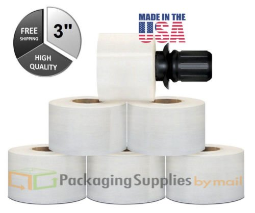 648 Rolls Stretch Wrap Extended Core with 36 Black Spinning Handles Clear - 3 inch x 1000 ft. x 80 ga by PackagingSuppliesByMail