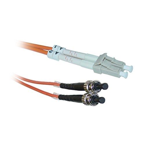 C&E LC/ST 15-Meters Multimode Duplex Fiber Optic Cable 62.5/125, (CNE73361)