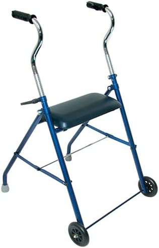 DMI Adjustable Folding Steel Rollator Walker with Cushioned Seat, Royal Blue 41P7V1VSC1L