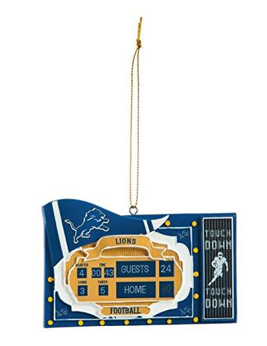 - Team Sports America NFL Detroit Lions Scoreboard Polystone Ornament, Small, Multicolored