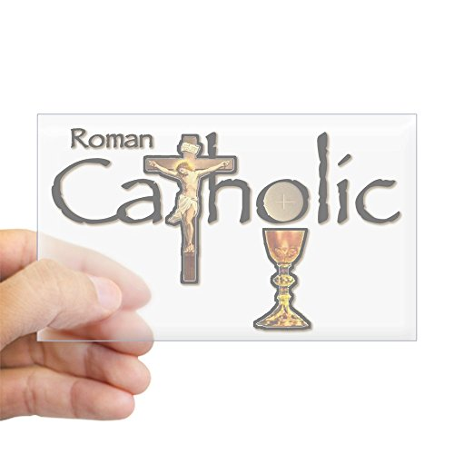 (CafePress Proud to be Catholic Sticker (Rectangle) Rectangle Bumper Sticker Car Decal)