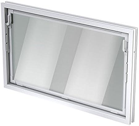 Gr/ö/ße Kippfenster:80 x 60 cm ACO 80cm Nebenraumfenster Kippfl/ügel Einfachglas Fenster wei/ß Kippfenster Keller