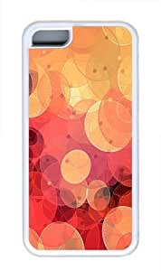 TYH - Circle Oval Red Yellow Custom iPhone 5C Case Cover TPU White ending phone case