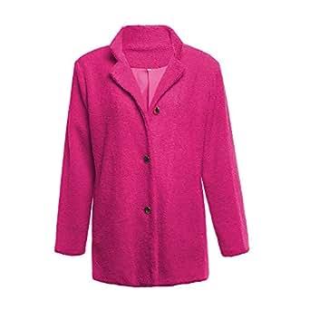 Amazon.com: RDTIAN Women Fluffy Jacket Winter Single