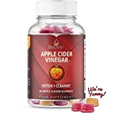 Apple Cider Vinegar Gummies with The Mother Enzymes and Ginger - Unfiltered and All-Natural - Helps with Detox, Cleanse & Bloating Relief for Women, Men, and Kids - 1 Month Supply