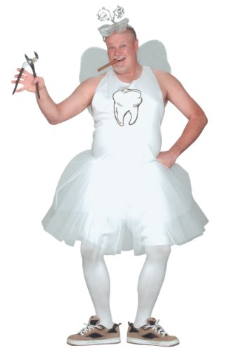 Fun World Men's Tooth Fairy Adult Costume, white,