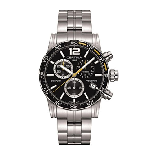 Certina DS Sport Chronograph Black Dial Mens Stainless Steel Watch C027.417.11.057.03