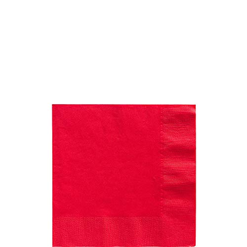 Apple Red Beverage Napkins Big Party Pack, 125 -