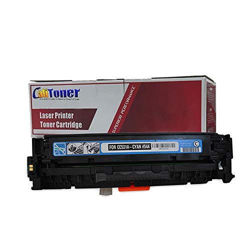 Calitoner Remanufactured Toner Cartridge Replacement for HP CC531A ( Cyan ) ()
