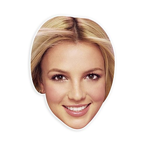 [Neutral Britney Spears Mask - Perfect for Halloween, Masquerade, Parties, Events, Festivals, Concerts - Jumbo Size Waterproof] (Britney Spears Concert Costumes)