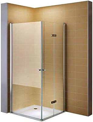 80 cm x 100 cm puerta plegable faltdusch cabina esquina ducha esquina. Sin ducha bañera # 860: Amazon.es: Bricolaje y herramientas