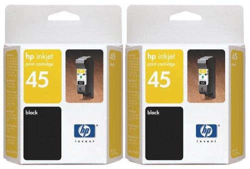 HP No. 45 Black Ink Cartridge Twin Pack (C6650BN#140)