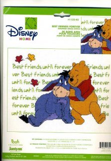 (Janlynn Counted Cross Stitch Kit: Pooh Collection, Best Friends Forever (8