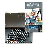 Cretacolor AquaStic Oil Pastel Sets metallic colors set of 10