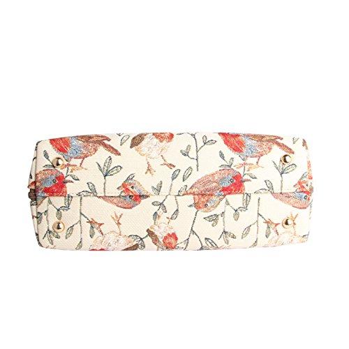 en d'épaule Femme Rouge Signare convertible toile Mode tapisserie Sac gorge XA7wXfxq