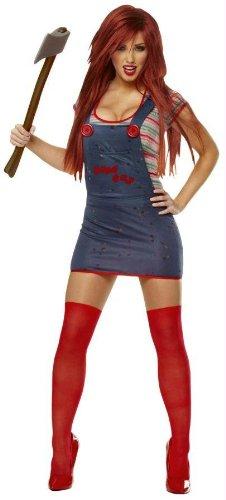 [Sexy Chucky - Large - Dress Size 12-14] (Chucky Costume Shoes)