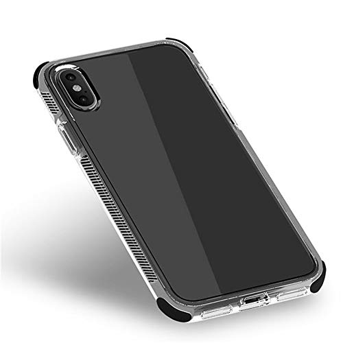BSDK Four-Corner Anti-Fall Mobile Phone Case, Frame Non-Slip Texture Cushioning Shock Absorber Suitable Compatible with Iphone7 iPhone - Faceplate Black Texture Case