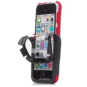 iCues |Apple iPhone 5C Funda | 2 Part Touch Case | rojo | Carcasa Bolsa Cover Bumper