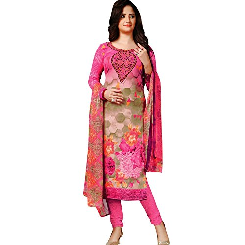 Readymade Faux Crepe Salwar Kameez Gorgeous Printed Ready to wear Salwar Suit Indian Dress (Kameez Printed)