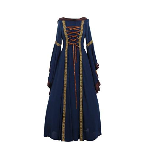 [CosplayDiy Women's Sarah Blue Renaissance Victorian Dress Costume L] (Renaissance Costume Material)