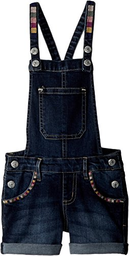 Embroidered Shortalls (Peek… Baby Girl's Embroidered Shortall (Toddler/Little Kids/Big Kids) Dark Wash 3T)