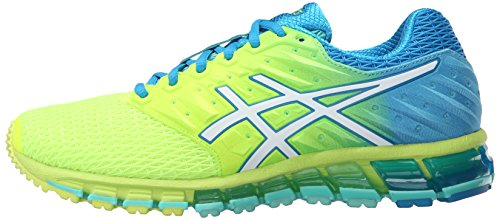 ASICS Women's Gel-Quantum 180 2 running Shoe, Safety Yellow/White/Blue Jewel, 8.5 M US by ASICS (Image #5)