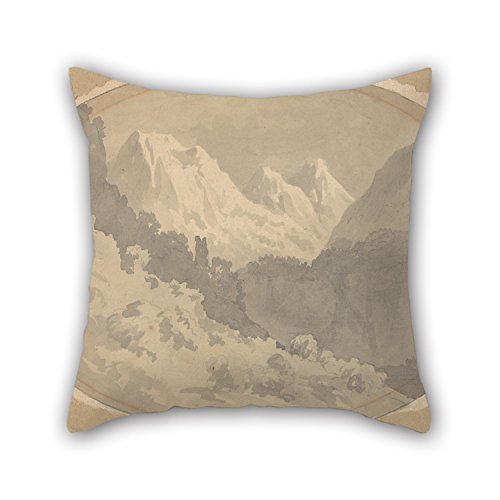 Slimmingpiggy 16 X 16 Inches / 40 By 40 Cm Oil Painting John Warwick Smith - Alpine Scene Throw Pillow Covers,double Sides Is Fit For Bedding,bedroom,kids Room,father,office,family
