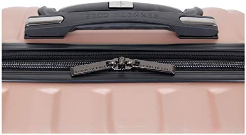 Kenneth Cole Reaction Women's Madison Square Hardside Chevron Expandable Luggage, Rose Gold, 28-Inch Checked
