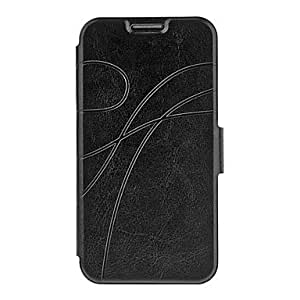 Bkjhkjy Ladies Leather Wallet Purse Pattern Faux Leather Pouches for Samsung Galaxy S4 I9500 , Black
