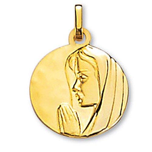 SF Bijoux - Médaille or jaune 750/1000e