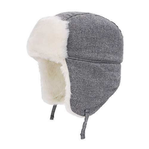 Keepersheep Baby Boy Ushanka Earflap Winter Trooper Hat Cap, Kids Trapper Hat (Steel Gray, 6-12 Months) ()