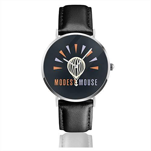 LNC 01P Cute Light Bulb Unisex Minimalist Leather Watch Classic Dress Casual Slim Simple Wrist Watches