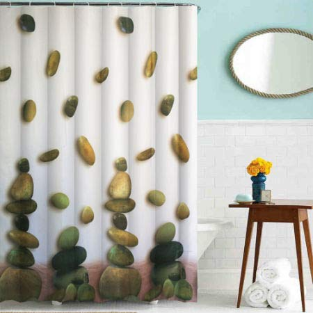 Cycle Printing Shower Curtain Polyester Stone 10 Pieces//Bag 5 Bags Baiyun