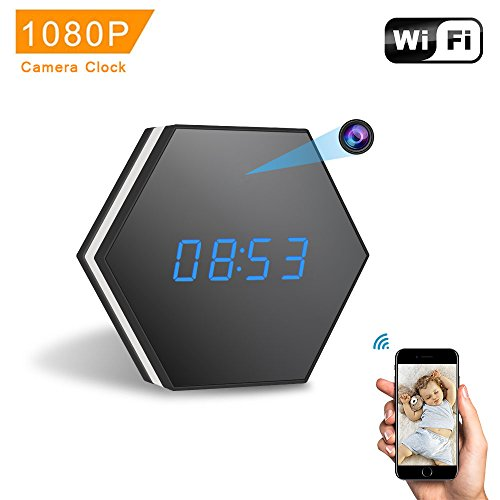Video Surveillance Recording Software (Mini Camera Clock-ENKLOV HD 1080P WiFi Smart Mirror Clock with Night Vision Two-Way Audio Motion Detection Colorful LED light,for Wall and Desk,Perfect Gift …)