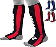 RDX Shin Guards for Kickboxing, Muay Thai, MMA Fighting, Approved by SATRA, Neoprene Instep Leg Protector Foam