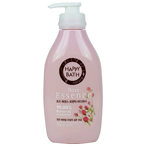 Happy Bath Rose Essence Body Cleanser 500g (1 Pack) (Essence Body)