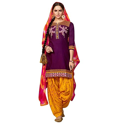 Purple Salwar - 1
