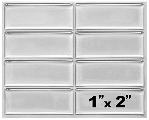 50 Pcs-1x2 inch Clear Rectangle Epoxy Stickers Domes Resin Cabochon Stickers Embellishments