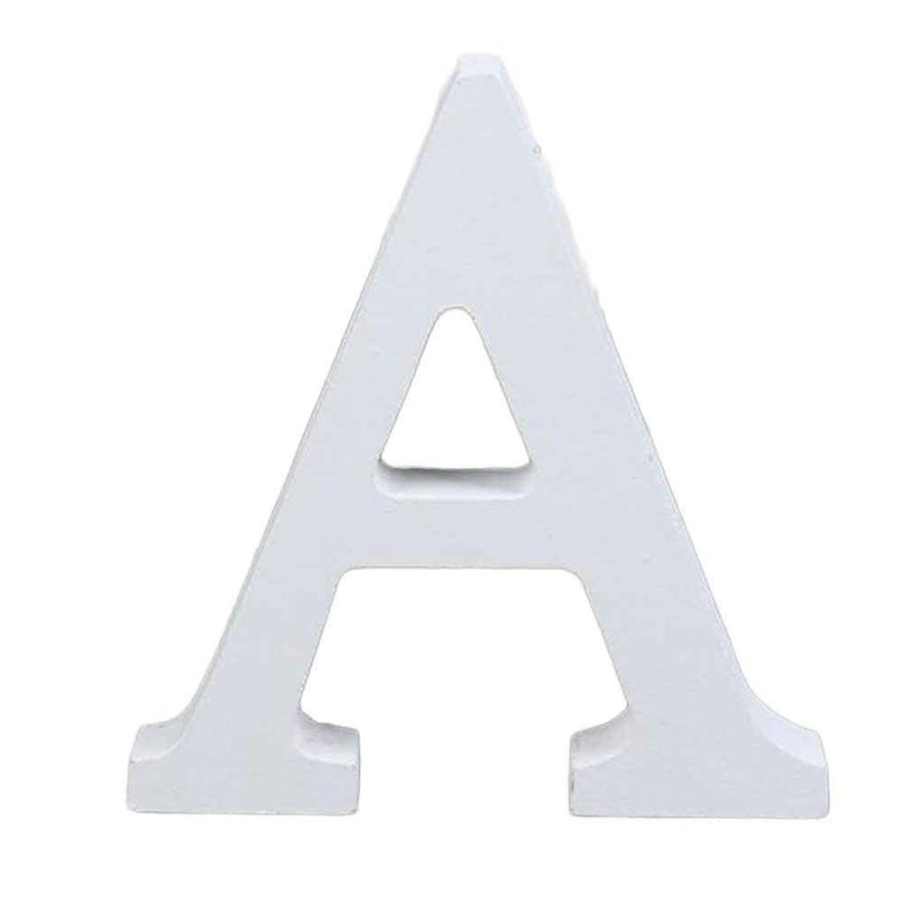 26 Lettere Altezza 8 cm autoportante aspire Decorazione per la casa Cuore Bianco Lettere dellalfabeto in Legno da Appendere alla Parete 3.15