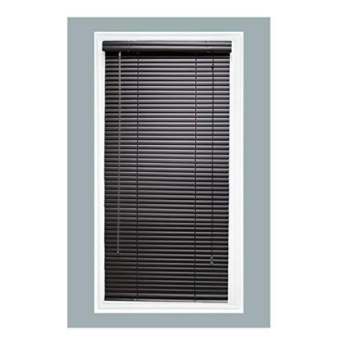 TailorView, Custom Made 1 Inch Aluminum Horizontal Venetian Window Mini Blind, Matte Black, Inside Mount, Inner Window Size: 70″ W x 48″ H