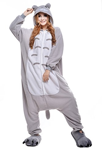 NEWCOSPLAY Halloween Unisex Adult Pajamas Costume Cosplay (M, Totoro) ()