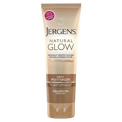 Jergens Natural Glow Revitalizing Daily Moisturizer, Medium/Tan Skin Tone 7.5 fl oz (221 ml) package of 2 - Glow Daily Moisturizer