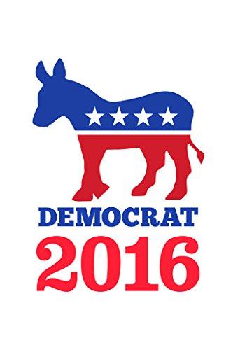 Vote Democrat 2016 Donkey Logo White Poster