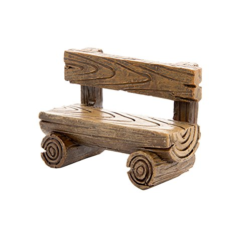 Simple Resin Loglike Fairy Garden Bench (12 Pack) by Generic (Image #1)