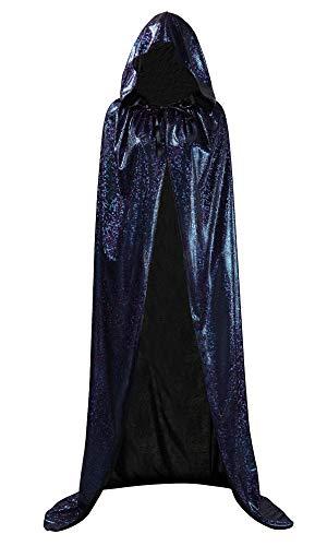 Honeystore Unisex Full Velvet Hooded Halloween Cloak Costume Cosplay Dark Blue M]()