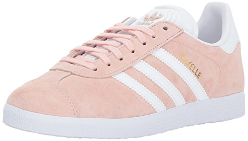 Pink And White Shoes (adidas Originals Women's Shoes | Gazelle Sneakers, Vapour Pink/White/Metallic Gold, (7.5 M US))