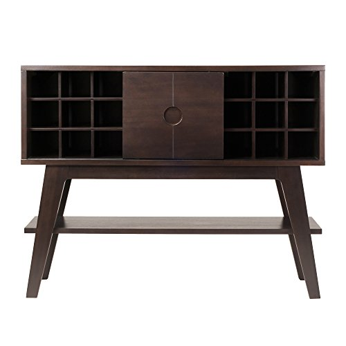 WINS 23152 Winsome Wood Monty Wine Holder Console