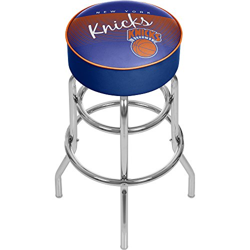 NBA New York Knicks Hardwood Classics Bar Stool, One Size, Chrome by Trademark Global